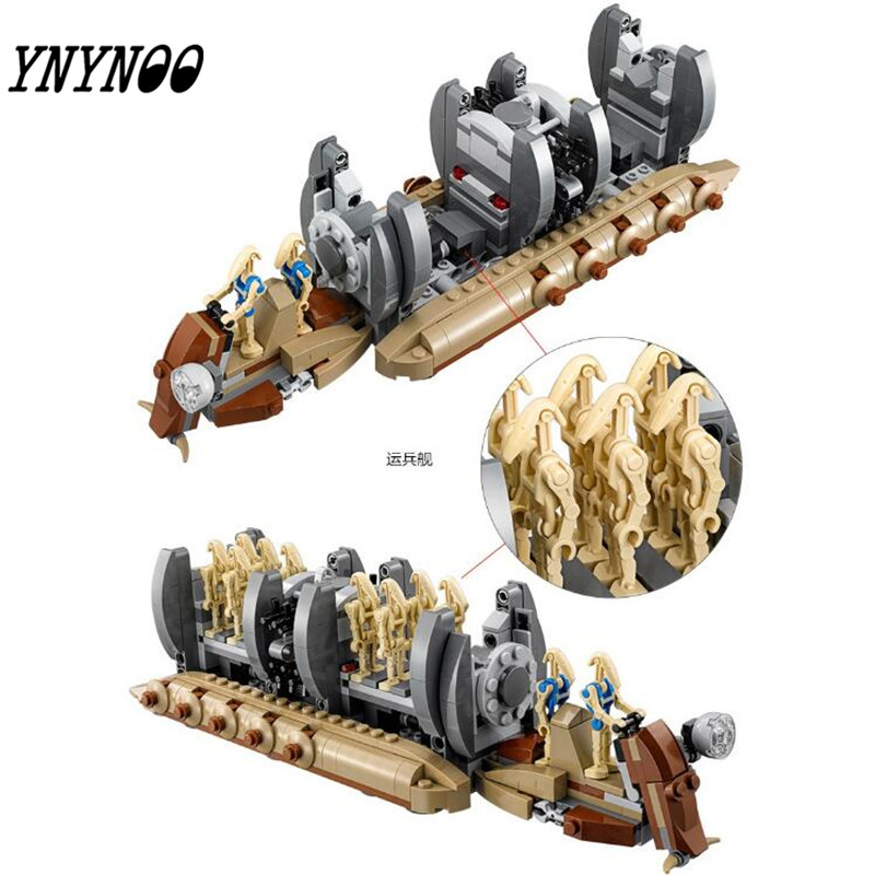(YNYNOO)NEW StarWars series the Battle Droid Troop Carrier model building block Figures Classic Toys Compatible with