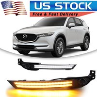 DRL For Mazda CX 5 CX5 2017 2018 LED Daytime Running Light Fog Lamp With Turn Signal