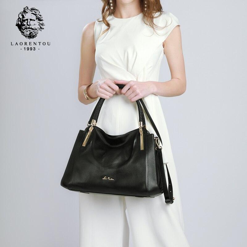 LAORENTOU Women's Bags Genuine Leather Luxury Handbag Valentine's Day Gift Ladies Casual Tote Purse Fashion Shoulder Bags