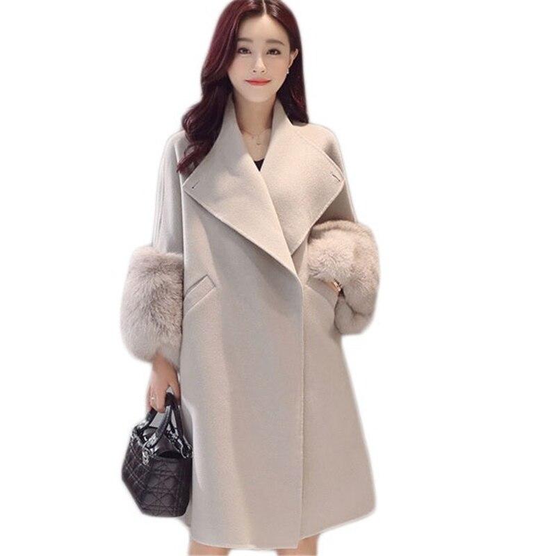 De Lâche Longue Et Laine A La Coréenne Dans Nouvelle 2017 Grand Model Code Section Le Spectacle Mince Automne L'ensemble Mode Manteau Hiver ZFBxXz