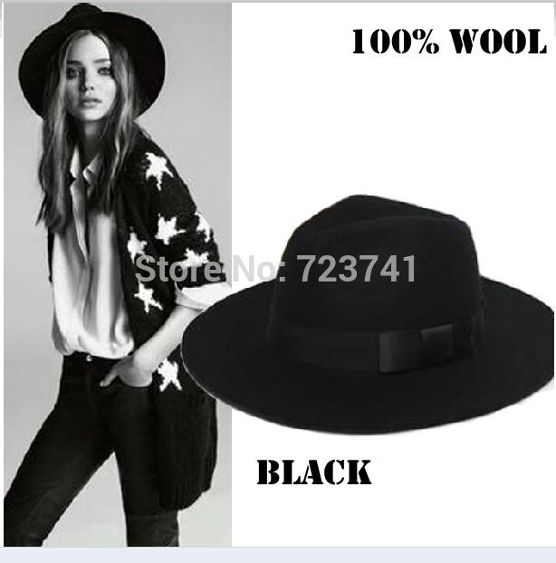 Brand Fashion 100 Wool Winter Autumn 100% Women s Men Fedora hats Trilby  JONES-Original felt panama Cap Size 56-58CM adjusted 54682ec487e