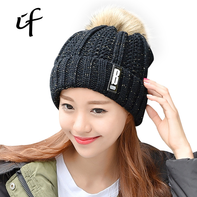 5c595854a 2016 New Casual Hot Sales Fur Velvet Knitted Hat Women Winter Hat For Women  Hat Supar Warm Skullies Beanies Female Gorros Caps-in Skullies & Beanies ...