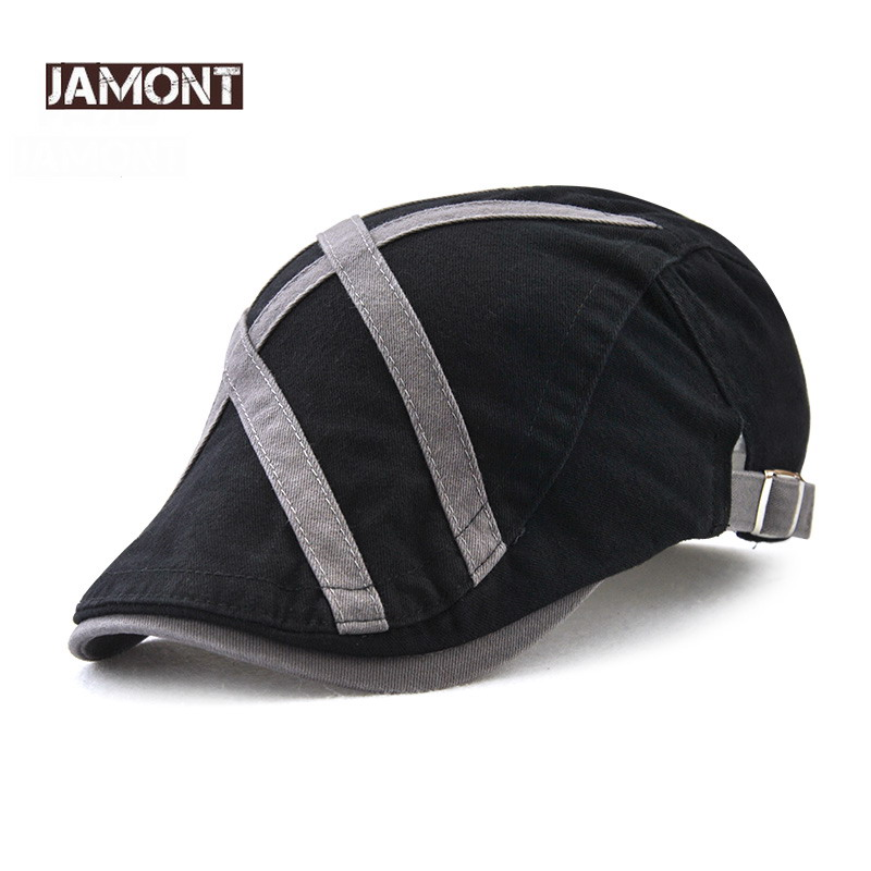 JAMONT Berets-Caps Gatsby Retro Summer Flat-Hats Golf-Driving Peaked Newsboy French Casual