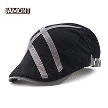 JAMONT verano gorras para hombres Casual Peaked 2018 nuevo Retro francés  plana sombreros hombre Golf Driving Newsboy Gatsby Casq. 0718129cf55