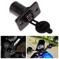 Universal Waterproof Dual USB Charger Socket Car Motorbike Handlebar Cigarette Lighter Socket Plug Panel Mount Jack Motorcycle