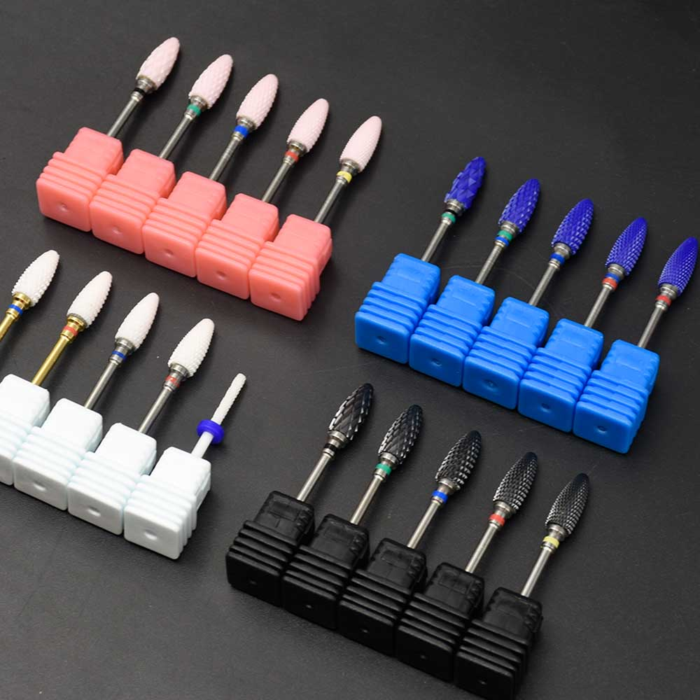 Ceramic Nail Drill Bit Rotate Burr Milling Cutter Bits For Manicure Electric Nail Drill Machine Accessories Pedicure Tools spetool 1 piece high quality ceramic nail drill bit rotary burr for electric manicure machines pedicure files nail salon tools