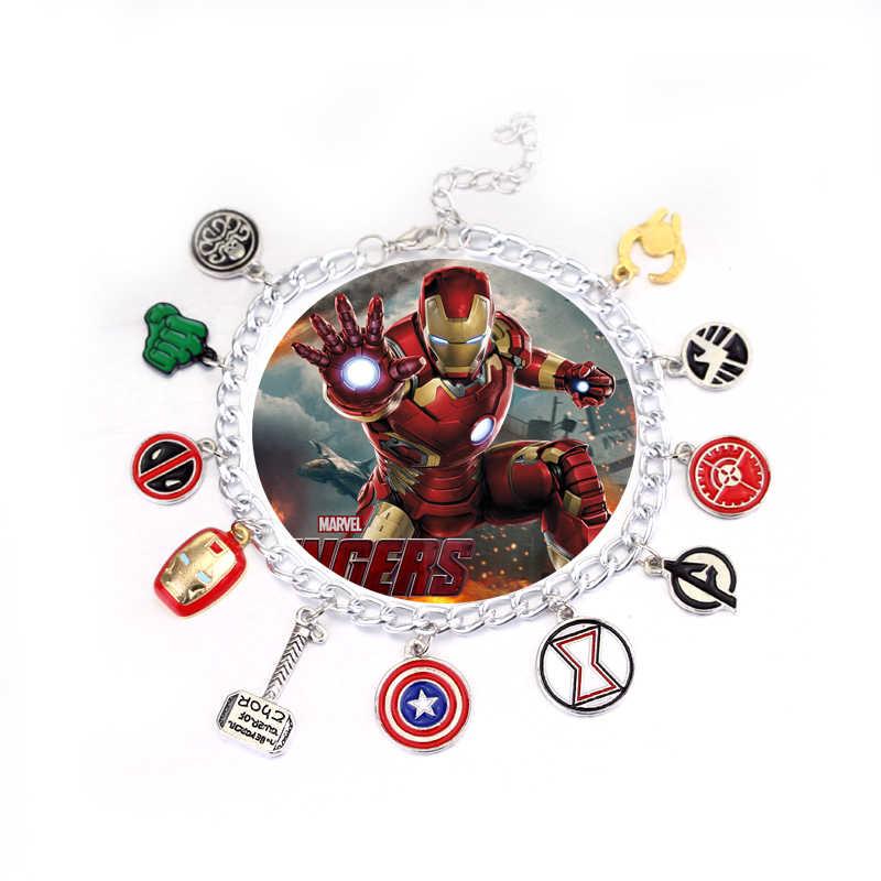 משלוח חינם נוקמי קסם צמיד קפטן אמריקה חומת מסכת איש ברזל Thor של האמר נשר deadpool האלק יוניסקס צמיד