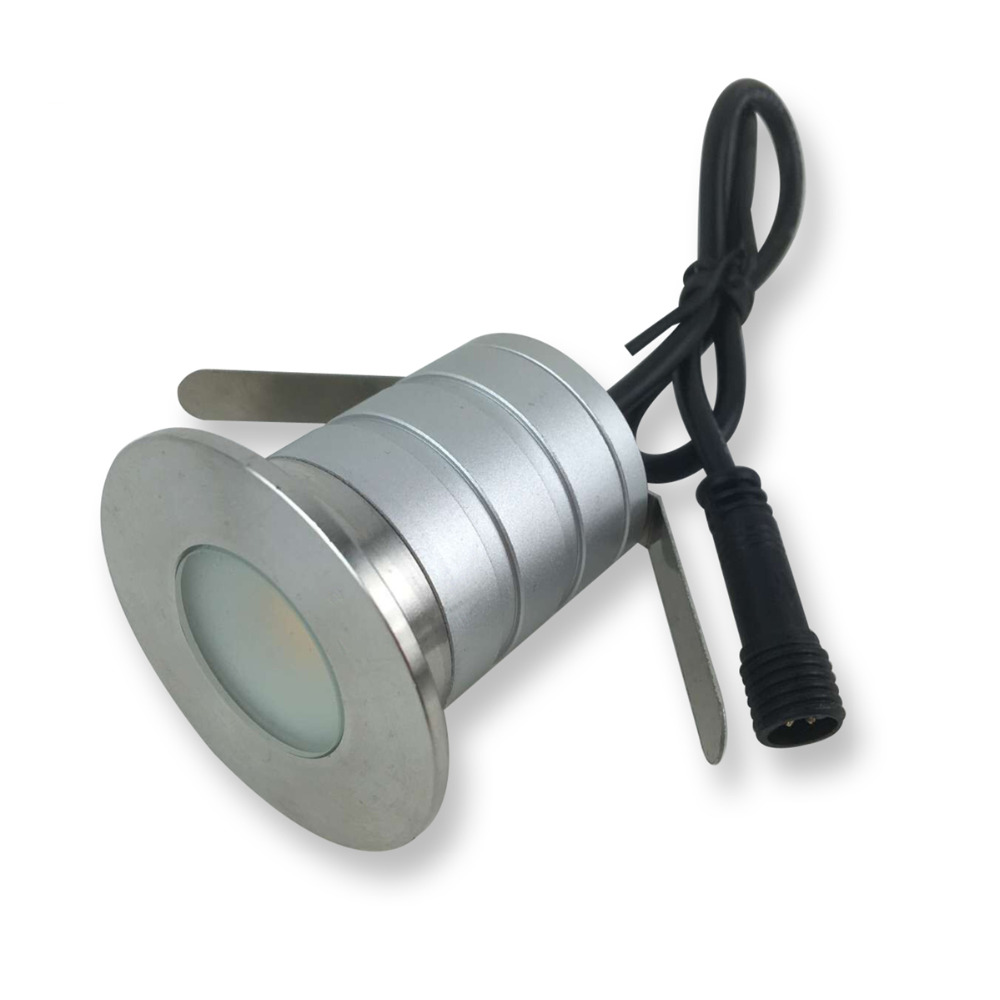 IP67 12V 24V 3W COB Waterproof Mini LED Underground Light Buried Lamp Garden Ground Light Recessed