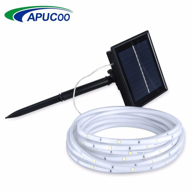 Us 18 99 30 Off Waterproof Ip68 Solar Lamp Ribbon Tape String Lights Solar Led Strip Light Christmas Outdoor Lighting Party Holiday Lights Decor In