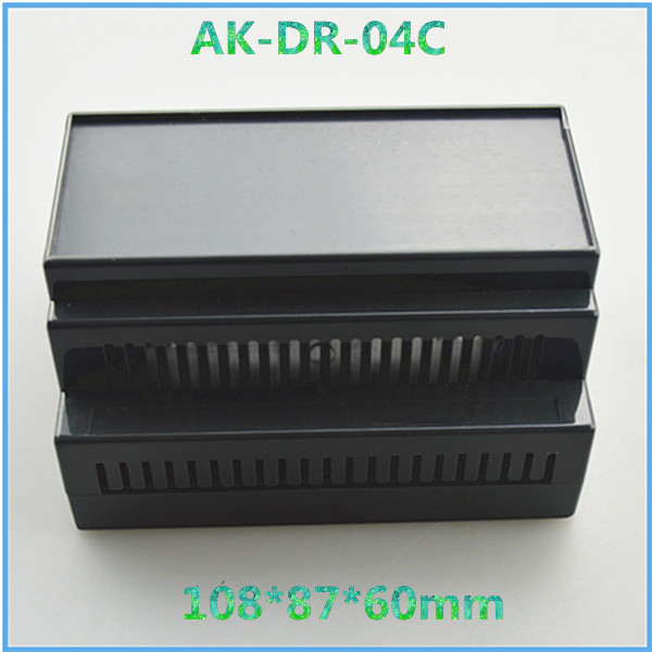 free shipping abs din rail enclosure (4 pcs) 108*87*60mm project box plastic instrument case mounting box abs enclosures abs instrument enclosure green color case electronic din rail box 4 psc good quality housing electronics 110 100 46mm