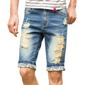 2016 Top quality DSQ Summer Men Short Jeans Man Skinny Jean Fashion Casual Designer Brand Slim Denim Blue Pants DM#6