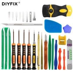 DIYFIX 30 em 1 Pinças Pry Crowbar Kit Ferramenta de Abertura de Tela Reparo Do Telefone Chave De Fenda Set para iPhone Samsung iPad Mão conjunto de ferramentas