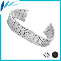 Stainless Steel Watch Band 23mm for AP Hidden Clasp Strap Loop Wrist Belt Bracelet Silver