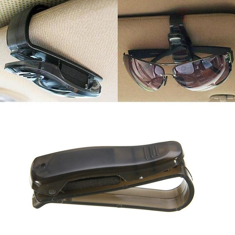 Car Sun Visor Sunglasses Clip Card Holder Storage Glasses Ticket Receipt C