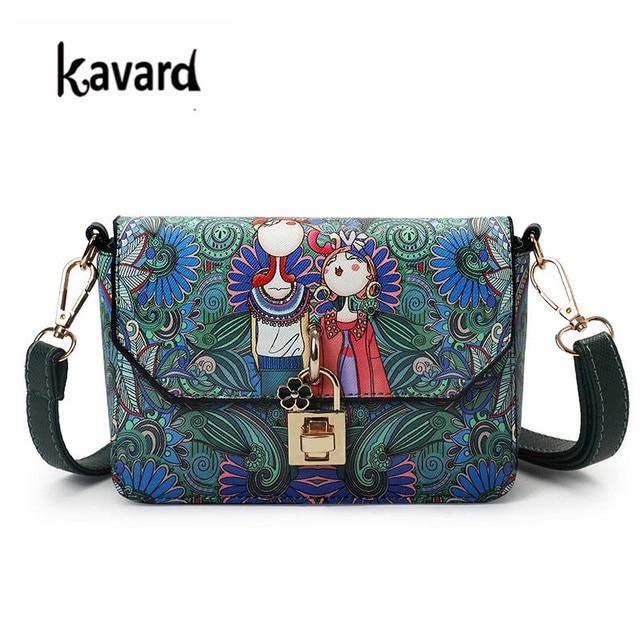 Kavard Lock Beach Bag Fl Crossbody Messenger Bags For Women Designer Handbag Las Hand