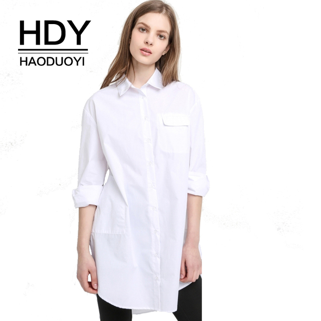 4f0de4b2a48d49 Shop Long Sleeve Plaid High Low Flannel Shirt Dress Source · HDY Haoduoyi High  Low Ladies Summer Formal Office Shirt Dress New