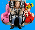 Портативный Естественный Здоровый Зеленый Детское Кресло Стул 0-4 Лет Ребенок использовать