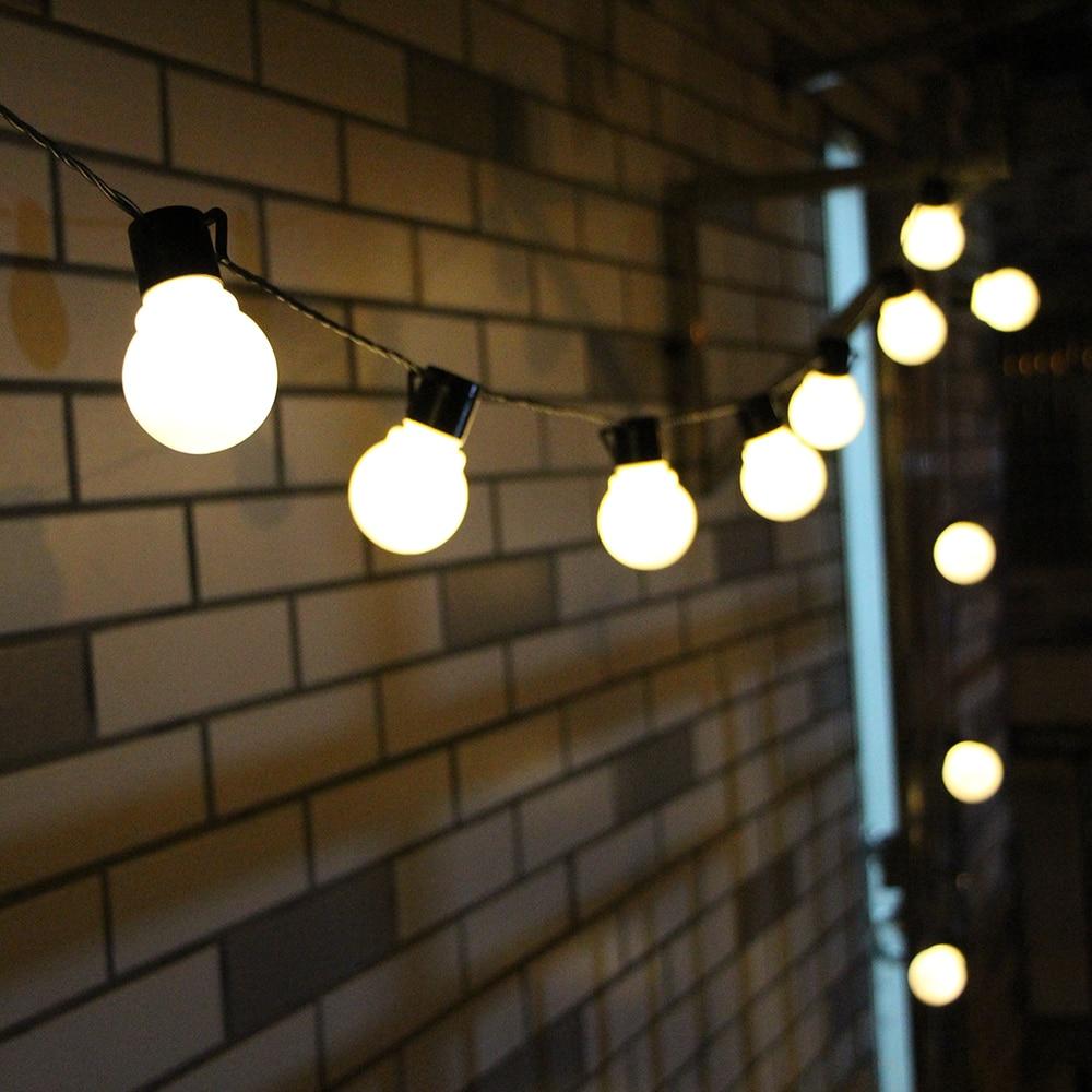 6 м 20 светодиодная гирлянда, уличные сказочные огни, гирлянда G50, лампы для сада, патио, свадебное Рождественское украшение, легкая цепочка, в...