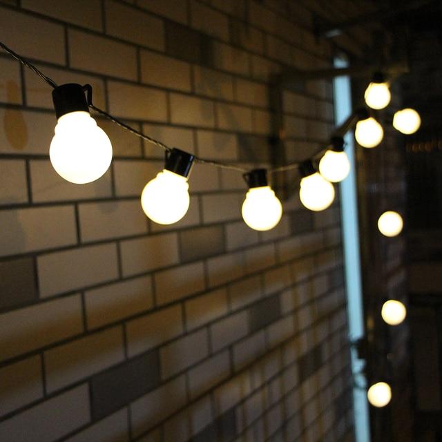 6M 20 LED String Light Outdoor Fairy Lights Garland G50 Bulbs Garden Patio Wedding Christmas Decoration Light Chain Waterproof