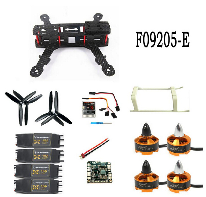 F09205-E Unassembled Kit Mini 250 Carbon Fiber 4-Axle Aircraft Frame with Motor ESC QQ Flight Control Board drone with camera rc plane qav 250 carbon frame f3 flight controller emax rs2205 2300kv motor fiber mini quadcopter