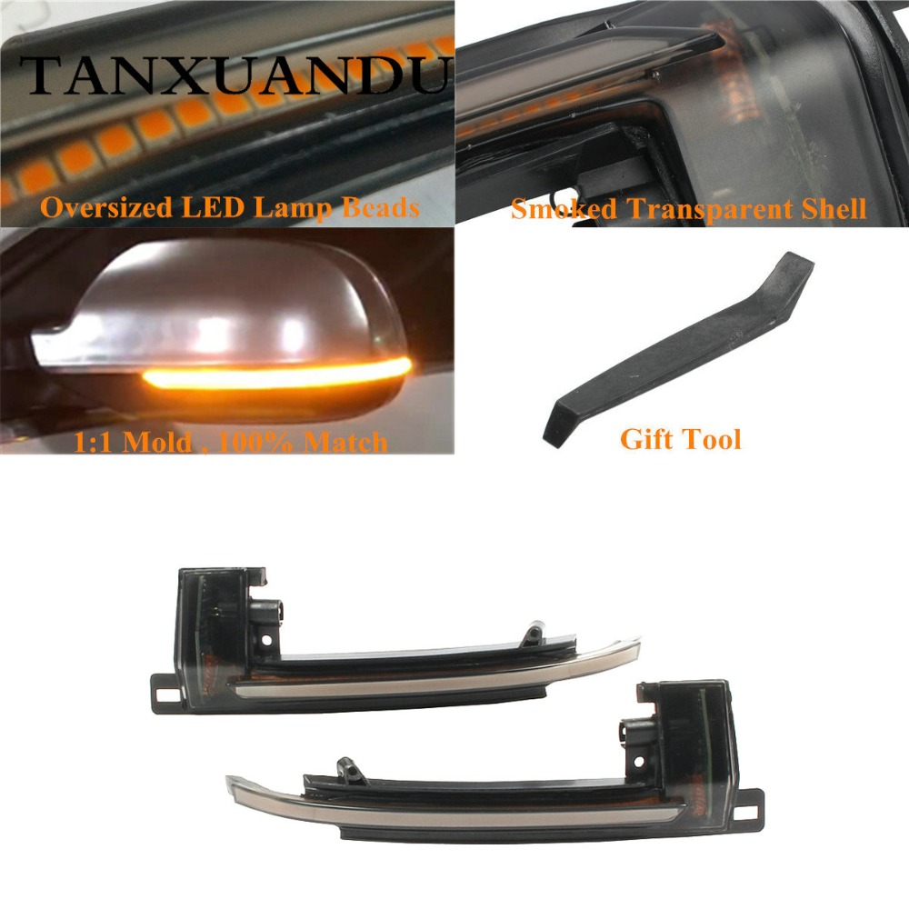 2Pcs Indicator Lamp Turn Signal Mirror Right Left for AUDI A4 8K B8 A5 A3