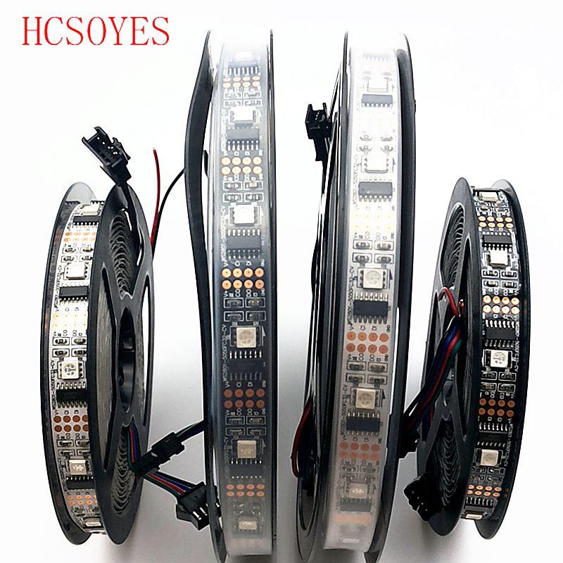 HCSOYES DC5V WS2801 32leds/m IP30/IP65/IP67 5050 rgb strip Individually addressable Arduino development ambilight TV