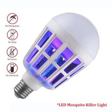 Self defense LED Mosquito Killer Light Bulb Night Light Lamp Electronic Insects Flies Pest Killer 9W 220V Household Accessories(China)