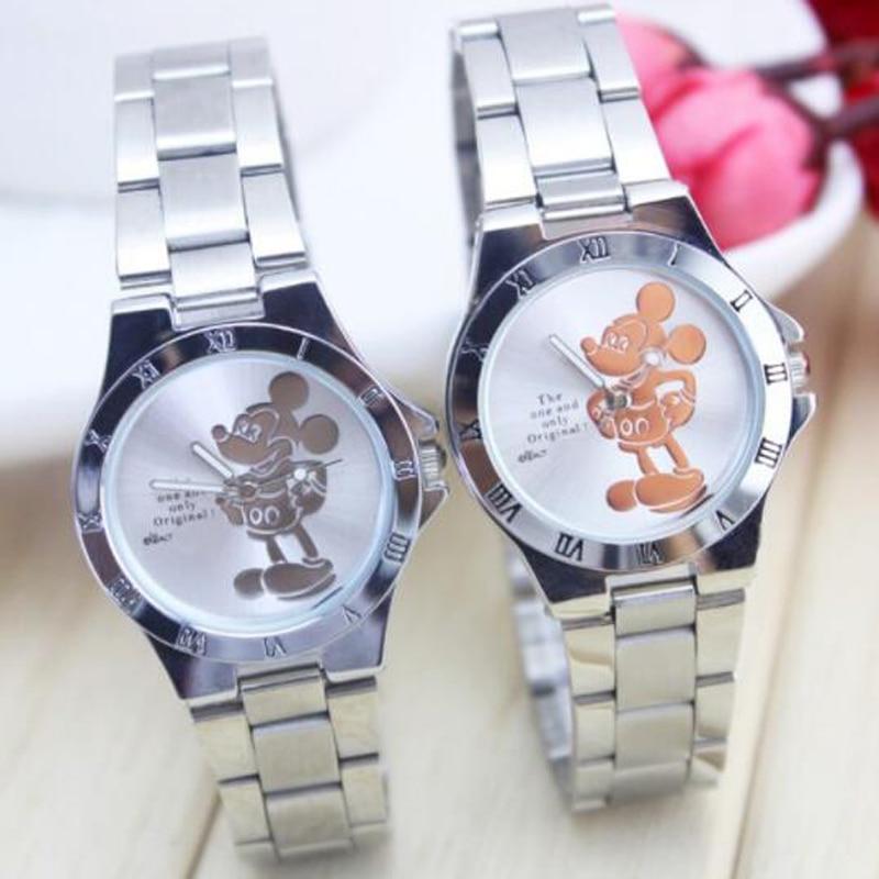 2018 Luxury New Fashion Wristwatches Quartz Watch Women Rhinestone Dress Watches Mickey Watch Kids Watch