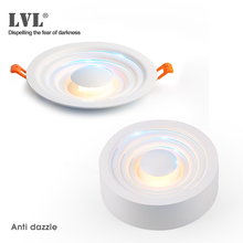 Downlight LED monté en Surface pour salon, chambre à coucher, cuisine, couloir, salle de bains, AC 85 v 265 v Anti éblouissement Spot encastré