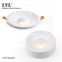 Downlight LED montado en superficie para sala de estar, dormitorio, cocina, pasillo, baño, AC 85v 265v antideslumbrante Luz de punto empotrada