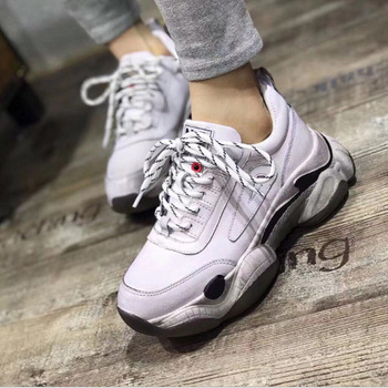 Casual color matching retro small dirty shoes Spring autumn new hot-selling leather platform women's singles shoes Comfortable