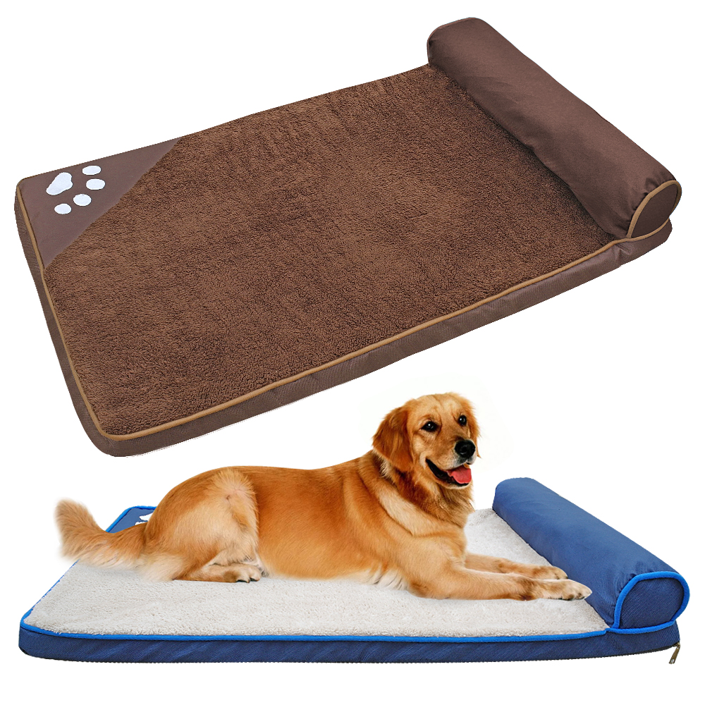 Dog Beds for Large Dogs Warm Winter Dog Kennel Soft Square Pet House Nest Sofa Cushion