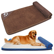 e70ba2ca8e75 Dog Beds for Large Dogs Warm Winter Dog Kennel Soft Square Pet House Nest  Sofa Cushion For Dogs Cats Husky Labrador Bed Mat