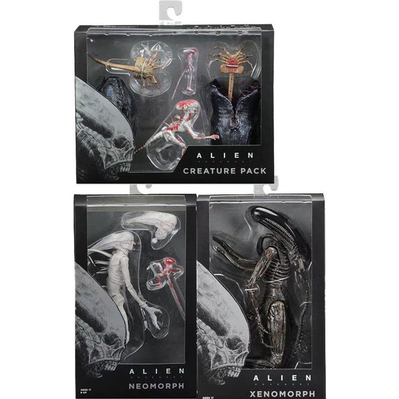 2018 anime figure movie game NECA Alien Covenant Xenomorph Neomorph Creature Pack PVC Action Figure Collectible Model Toy цена