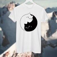 Yin Yang Cats Kittens T SHIRT Women T Shirt Cotton Casual Funny Shirt For Lady White