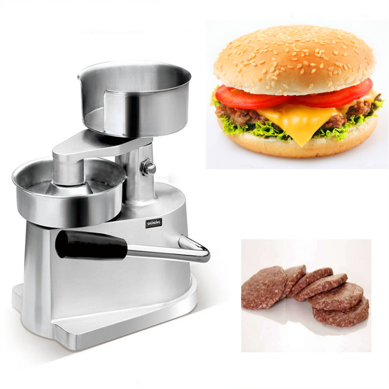Small manual hamburger patty maker press machine цена