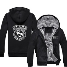 Mens Casual Resident Evil S.T.A.R.S Special Tactics And Rescue Logo Zip Up Winter Fleece Hoodies Sweatshirts