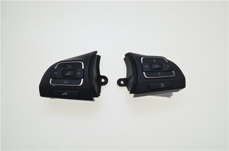 цена на car styling Steering Wheel Control Switch Button 5C0959537A&5C0959538B For VW Golf /Jetta /MKVI/ MK6 /Eos