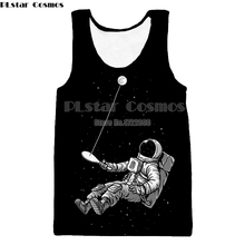 PLstar Cosmos Astronaut 3d Printed Vest Men Tank Top Sleeveless Tees Fitness Bodybuilding Undershirt Tanktop Dropshipping