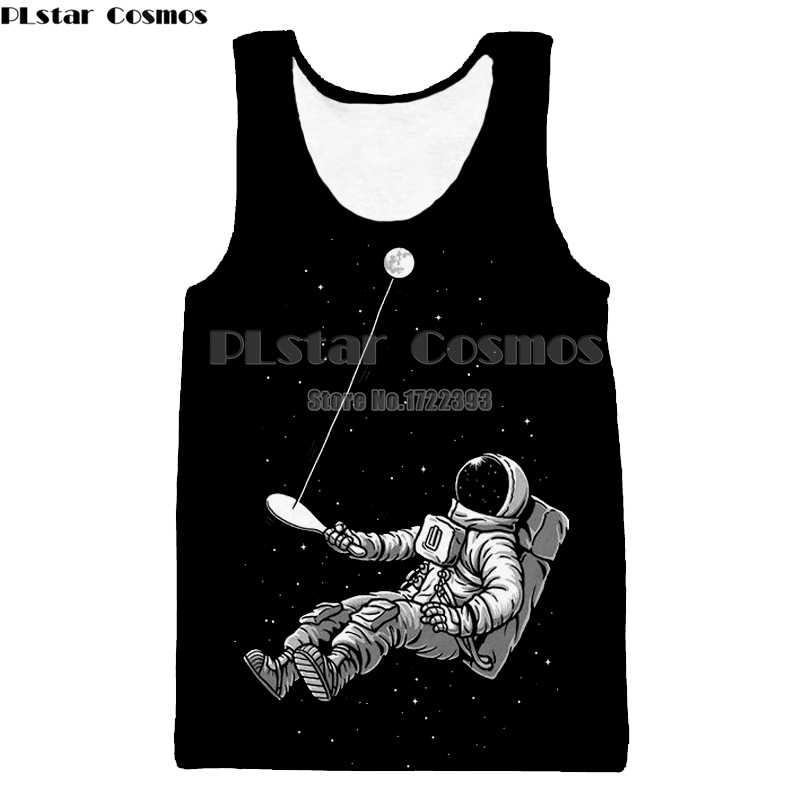 Cosmos Prayer Astronaut Meditation Art Camiseta sin Mangas sin Mangas para Mujer