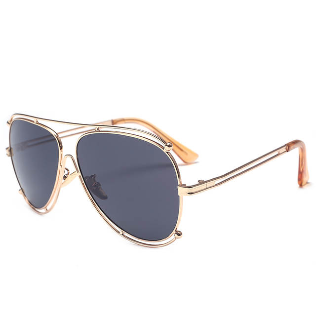 9ea5c1de66 US $5.5 45% OFF|SOZO TU Italy Hollow Designer police sunglasses Pilot  Sunglasses Eyeglasses Women Glasses Clear Optical Spectacle Eyewear  Frames-in ...