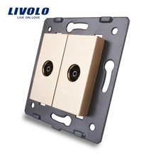 Livolo ЕС Стандартный, гнездо/разъем элемент, для продуктов DIY, 2 банды ТВ разъем/выход vl-c7-2v-13