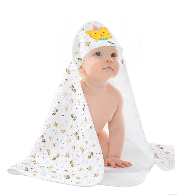 Square Bath Towels Hooded Cartoon Animal Baby Towels Kids Cotton Blanket Newborn Breathable Boy Girl Blanket Winter Soft Towels