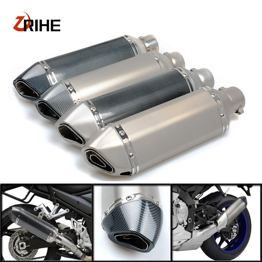 Универсальный 36-56 мотоцикл выхлопной трубы изменение глушитель выхлопной трубы pipefor Kawasaki w800/se z750s ZX-6 ZX9R zxr 400 versys 650 cc