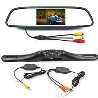 4,3 zoll Auto Rückspiegel Monitor Auto Reverse Kamera Für Fahrzeug Parkplatz Umkehrung Bild Display Mit Wireless Transmitter