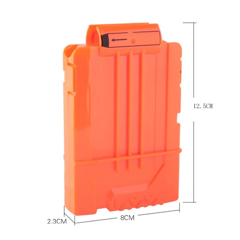 Soft Bullet Clips For Nerf Toy Gun 6 Bullets Ammo Cartridge Dart For Nerf Gun Clips - Transparent Orange