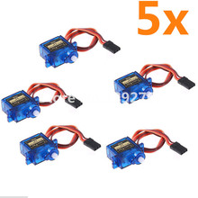 5PCS /lot Tower pro SG90 Micro 9g Servo JR For Trex 450 RC Planes Helicopter Parts Steering gear Toy motors
