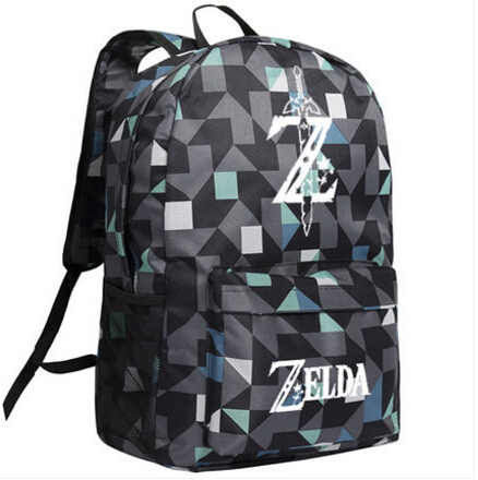 ecoparty New The Legend of Zelda Breath of the Wild Cosplay Backpack Cartoon Bag Luminous Anime Oxford Schoolbag the legend of qin anime zinv 925 sterling silver earring comics cartoon