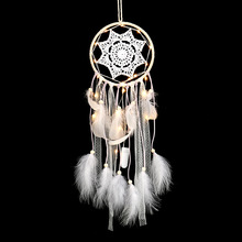 The inheritors of the pure and fresh white style feather dream catcher gifts to friends classmates home decoration