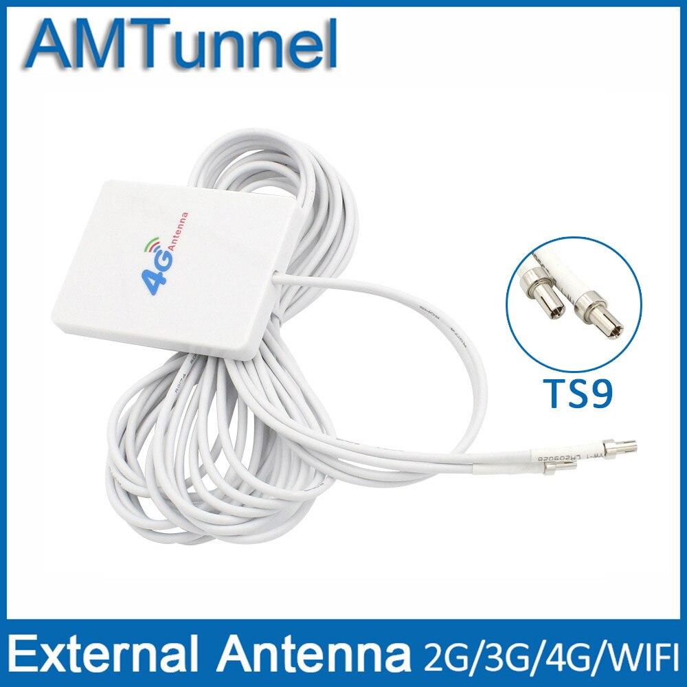 TS9 Connecteur 4g LTE Panneau Antenne Double Curseur Connecteur pour Huawei 3G 4G LTE Routeur Modem Aérienne 3 Mètres Fil